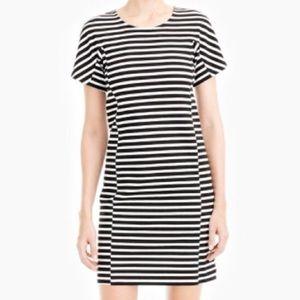Jcrew black and white striped T-shirt dress size s